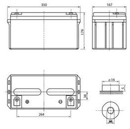 Аккумулятор Delta DTM 1265 L (12V / 65Ah)