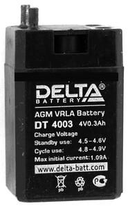 Аккумулятор Delta DT 4003 (4V / 0.3Ah)