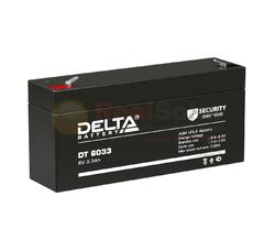 Аккумулятор Delta DT 6033 (125) (6V / 3.3Ah)