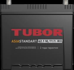 Аккумулятор автомобильный TUBOR ASIA STANDART 62ah 6СТ-62.1 VL B01