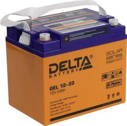Аккумулятор Delta GEL 12-33 (12V / 33Ah)