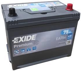 Аккумулятор Exide EA754, 75 А/ч 630А