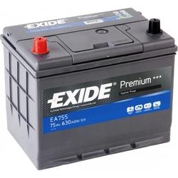 Аккумулятор Exide EA755, 75 А/ч 630А