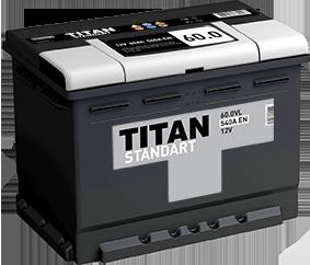 Аккумулятор TITAN STANDART 60ah, 6СТ-60.0 VL