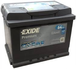 Аккумулятор автомобильный Exide EA640 64 А/ч 640А