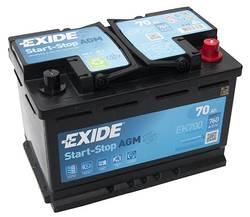 Аккумулятор автомобильный Exide EK700 70 А/ч 760А AGM Start-Stop