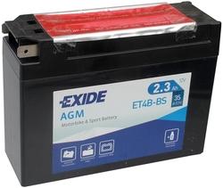 Аккумулятор Exide ET4B-BS 2,3 Ач 35А
