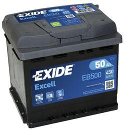 Аккумулятор Exide EB500, 50 А/ч 450А