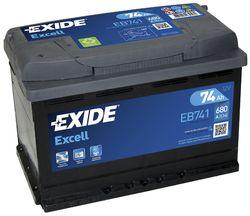 Аккумулятор Exide EB741, 74 А/ч 680А
