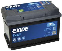 Аккумулятор Exide EB712, 71 А/ч 670А