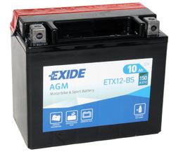 Аккумулятор мото Exide ETX12-BS
