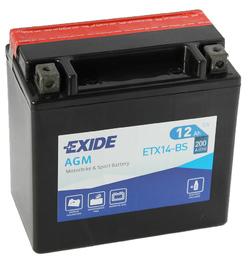 Аккумулятор мото Exide ETX14-BS