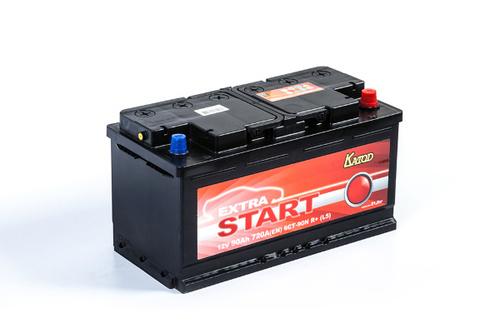 Аккумулятор EXTRA START (Катод) 90 а/ч, 6СТ-90N R+ в СПб