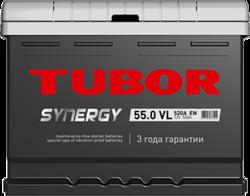 Аккумулятор автомобильный TUBOR SYNERGY 55ah 6СТ-55.0 VL