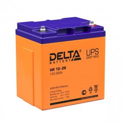 Аккумулятор Delta HR 12-26 (12V / 26Ah)
