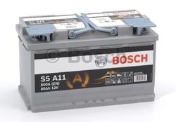 AGM Аккумулятор автомобильный Bosch S5 a11 80 а/ч 0092S5A110