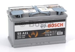 BOSCH S5 (S5A 110) AGM 80 А/ч 800 А  START-STOP
