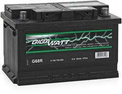 Аккумулятор автомобильный Gigawatt G68R 68А/ч 570A