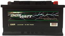 Аккумулятор автомобильный Gigawatt G80R 80А/ч 740A