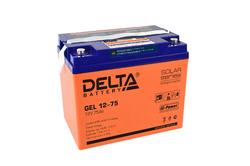 Аккумулятор Delta GEL 12-75 (12V / 75Ah)