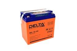Аккумулятор Delta GEL 12-55 (12V / 55Ah)