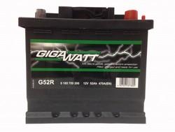 Аккумулятор автомобильный Gigawatt G52R 52А/ч 470A