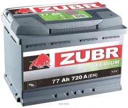 Аккумулятор ZUBR (ЗУБР) PREMIUM77Ah+L