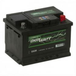 Аккумулятор автомобильный Gigawatt G53R 53А/ч 470A