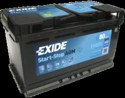 Аккумулятор автомобильный Exide EK800 80 А/ч 800А AGM START-STOP