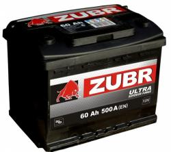 Аккумулятор ZUBR (ЗУБР)ULTRA60Ah+D