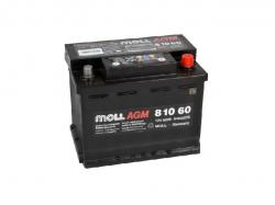 Аккумулятор автомобильный MOLL AGM 60Ah 640A