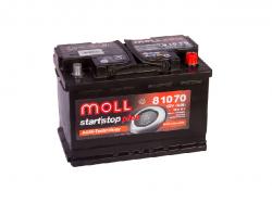 Аккумулятор автомобильный MOLL AGM 70Ah 760A