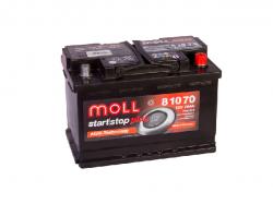 Аккумулятор автомобильный MOLL AGM 80Ah 800A