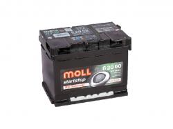 Аккумулятор автомобильный MOLL EFB 60Ah 640A