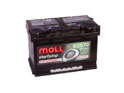 Аккумулятор автомобильный MOLL EFB 70Ah 760A