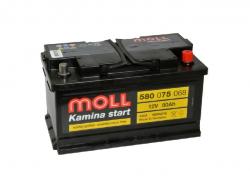 Аккумулятор автомобильный MOLL MG 80Ah 750A низкий