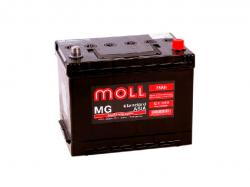 Аккумулятор автомобильный MOLL MG 75Ah 735A Asia (нижнее крепление)