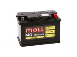 Аккумулятор автомобильный MOLL MG 75Ah 720A