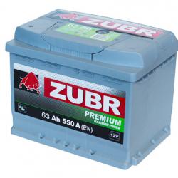 Аккумулятор ZUBR (ЗУБР) PREMIUM63Ah+L