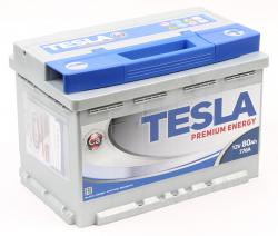 Аккумулятор автомобильный TESLA Premium 80Ah 770А низкий