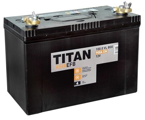 Аккумулятор TITAN ASIA EFB 100ah, 6СТ-100.0 VL B01