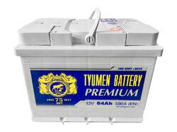 Аккумулятор автомобильный Тюмень PREMIUM 64 а/ч п.п. 6СТ-64