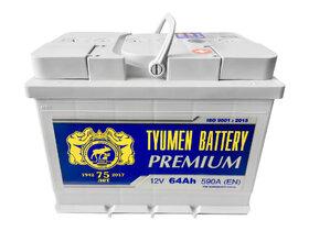 Аккумулятор автомобильный Тюмень PREMIUM 64 а/ч о.п. 6СТ-64