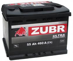 Аккумулятор ZUBR (ЗУБР) ultra55Ah+D